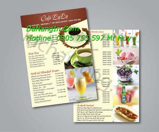 In quảng cáo tại đà nẵng các loại menu card visit order