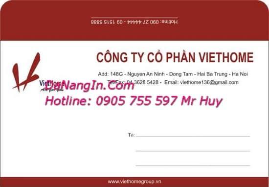 In Bì Thư Giá Rẻ Tại Đà Nẵng In Menu Nhanh LH 0905 755 597 Mr Huy
