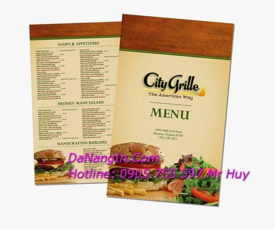 Làm menu quán nhậu tại đà nẵng nhanh giá rẻ