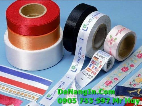 In dây ruy băng tapes nhãn mác thời trang tại đà nẵng