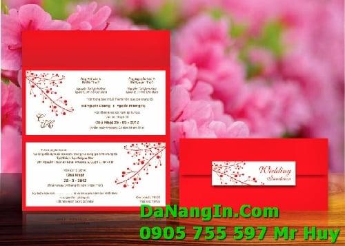 In Thiệp cưới Đà Nẵng Liên Chiểu Giá Rẻ Lấy Gấp