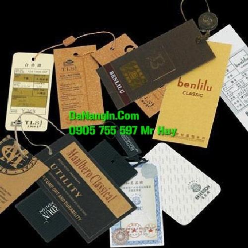làm nhãn mác in thẻ bài tag quần áo tại đà nẵng giá rẻ