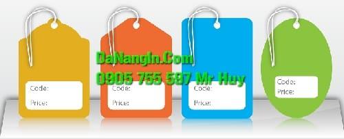 In Nhãn Mác Thẻ Treo Price Tag Tại Đà Nẵng 0935 44 77 49
