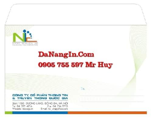 in phong bì bì thư logo công ty tại đà nẵng lấy gấp