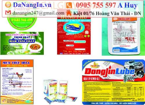 In nhãn decal tại Đà Nẵng,LH 0905 755 957 A Huy - danangin.vn,in giấy lột dán lên sản phẩm,in decal dán son môi,in name card menu lấy gấp,xưởng in lụa sĩ