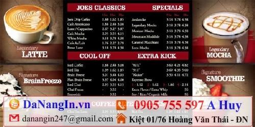 làm menu tại đà nẵng,danangin,vn 0905 755 597 A Huy,thiết kế in ấn các loại menu quán nhậu tại liên chiểu hòa khánh,in menu lấy gấp,in đồng phục áo thun logo