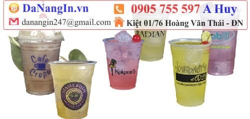 in ly nhựa nắp cầu trà sữa cafe thức uống logo,0905 755 597 A Huy - danangin.vn,in logo áo lớp,in menu,dịch vụ in ly thủy tinh,in name card danh thiếp,lụa