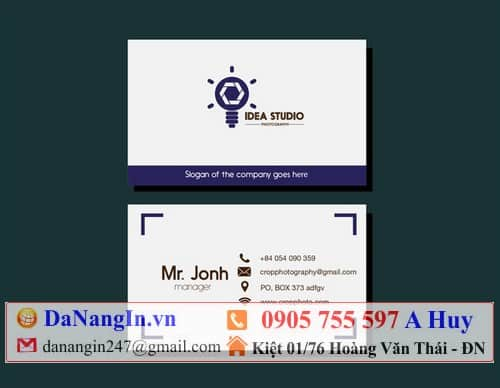 Card visit xe du lịch taxi vận chuyển hàng hóa liên hệ 0905 755 597