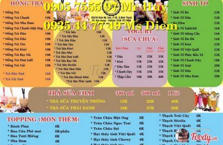 làm menu trà sữa cafe ở đâu 0905 755 597 Mr Huy