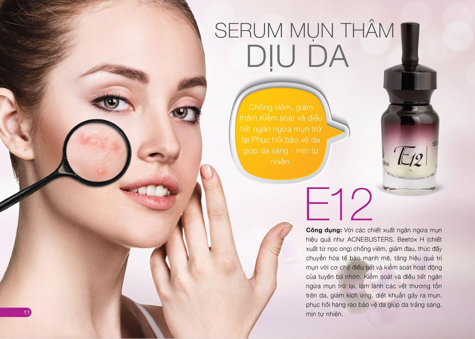 Serum mụn - Thâm - Dịu da E12 Tại Đà Nẵng 0901 99 40 88