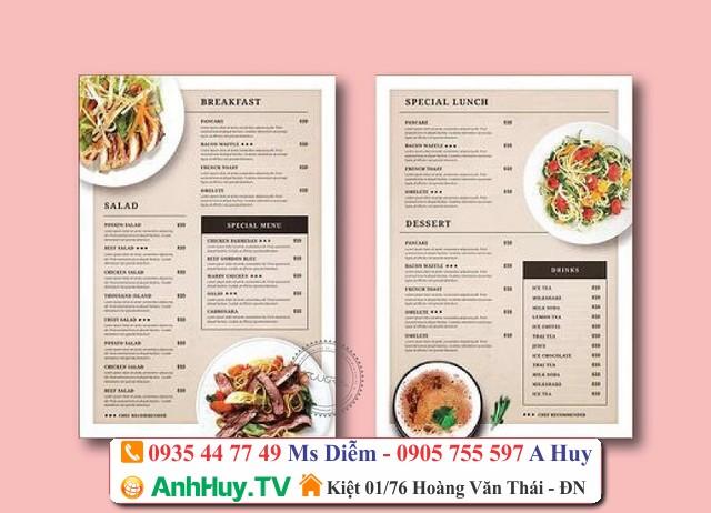 làm menu đà nẵng lấy gấp 0935447749 xuân diễm , thiết kế in ấn thi công quảng cáo Đà Nẵng 247,