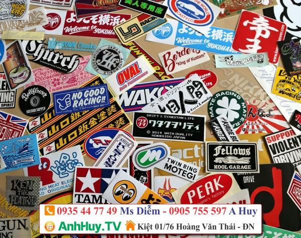 logo sticker dán ly nhựa chai lọ hủ bình hộp túi giấy LH 0935447749 Xuân Diễm