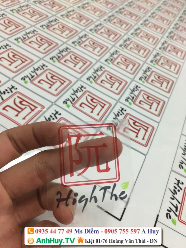 in sticker logo dán sản phẩm