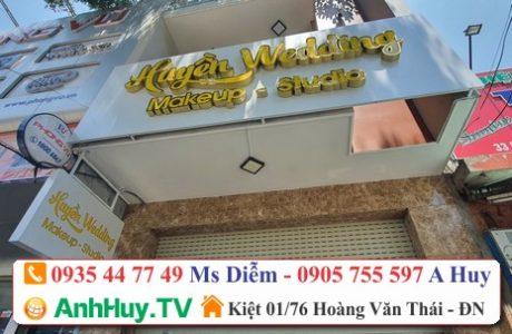 Làm Bảng Hiệu Wedding MakeUp Studio Tại Đà Nẵng Alu Led Mica Hiflex Giá Rẻ 0705444489