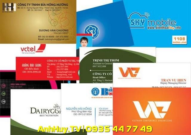 Xưởng in name card visit giá rẻ tại quận liên chiểu 0905 755 597