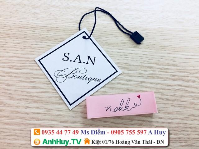 Chuyên In Tag Giấy Mác Quần Áo Đà Nẵng 0935447749 Anh Huy TV
