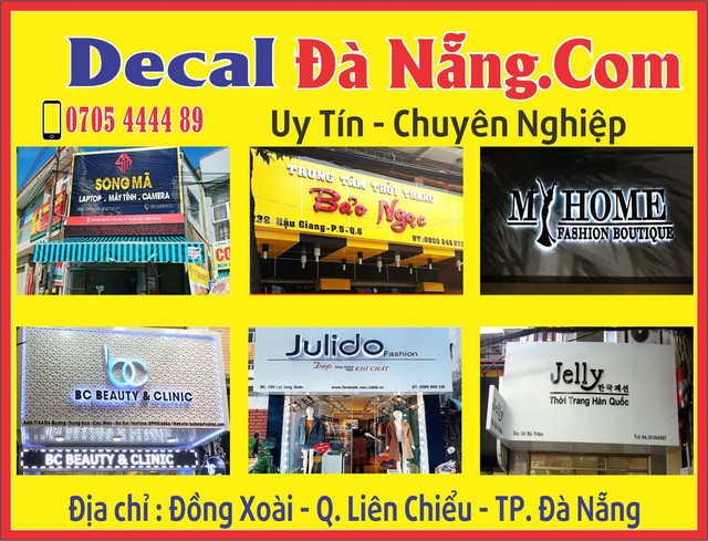 Top 10 địa chỉ làm biển quảng cáo giá rẻ tại Đà Nẵng 0935447749