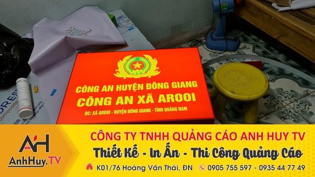 Làm bảng hiệu hộp đèn công an huyện đông giang công an xã arooi 0935447749