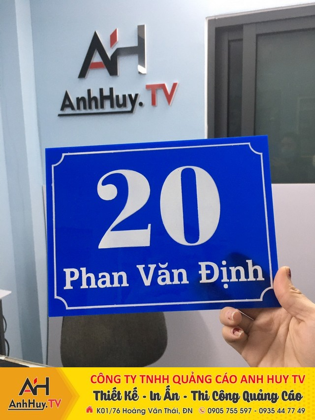 Lảm bảng số nhà biển công ty tại Đà Nẵng lấy nhanh