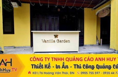 Biển hiệu chữ nổi alu inox gương vàng Vanilla Graden