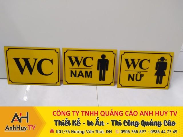 Biển WC Biển nhà vệ sinh Bảng toilet bằng mica tại Đà Nẵng 0905755597 Anh Huy TV