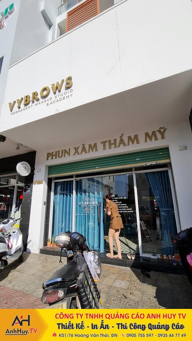 Mẫu chữ nổi dán tường trang trí quảng cáo tại Đà Nẵng
