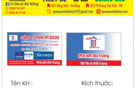 In name card visit danh thiếp mẫu Cửa Nhôm Xingfa Đà Nẵng
