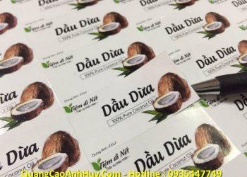 Thiết Kế Và In Nhãn Decal Dầu Dừa