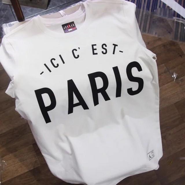 In Áo thun Messi PSG- ICI C'EST PARIS màu đen trắng