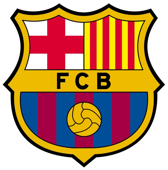 In Logo Barcelona biểu tượng của Patron Saint Catalonia