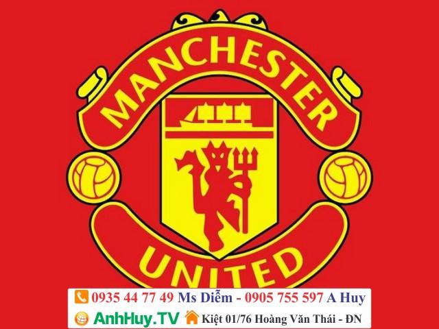 In logo manchester united decal ép ủi lên áo thể thao